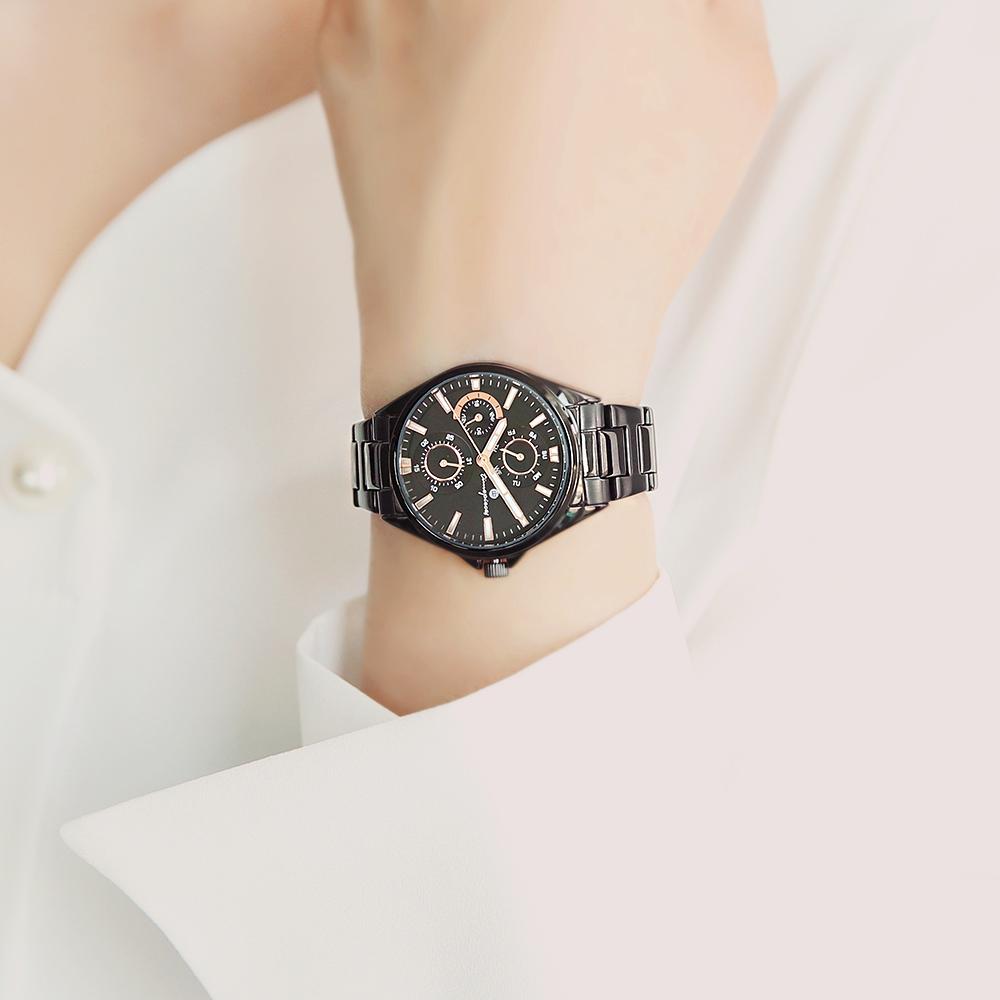 오에스티(OST) [Timepieces] 모던 블랙 멀티펑션 여성용 커플 메탈시계 OTC219503FBB